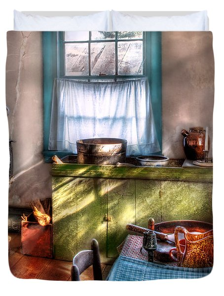 Kitchen - Old Fashioned Kitchen Duvet Cover by Mike Savad