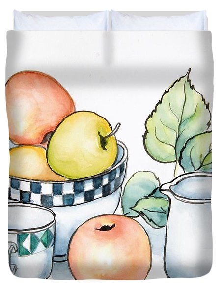 Kitchen Still Life Sketch Duvet Cover