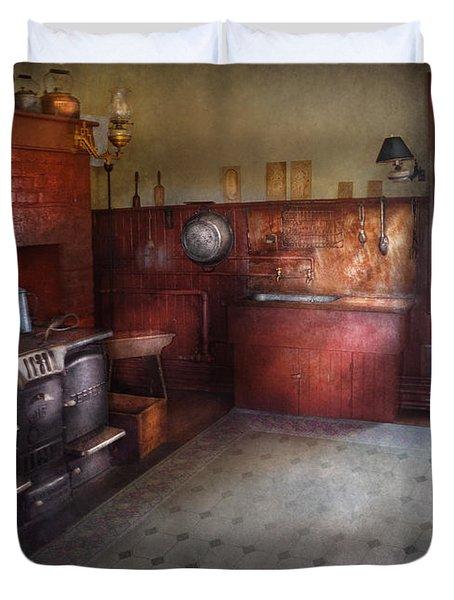 Kitchen - Storybook Cottage Kitchen Duvet Cover by Mike Savad