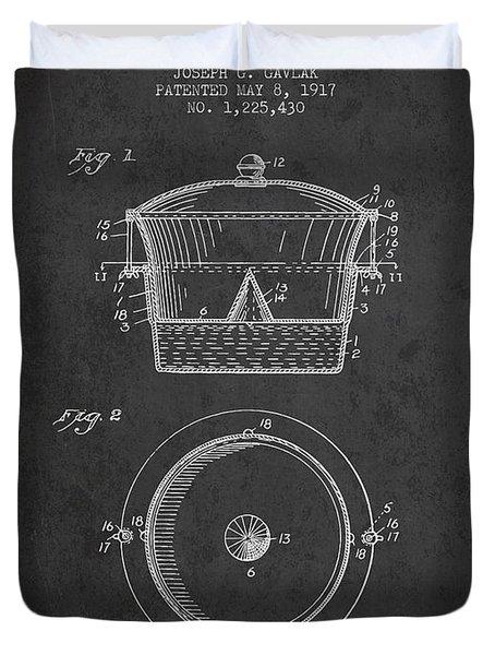 Kitchen Utensil Patent From 1917 - Dark Duvet Cover