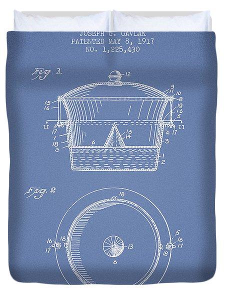 Kitchen Utensil Patent From 1917 - Light Blue Duvet Cover