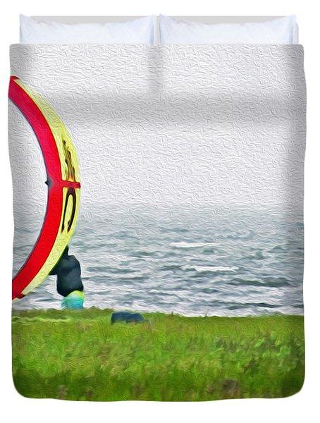 Kite Boarder Duvet Cover