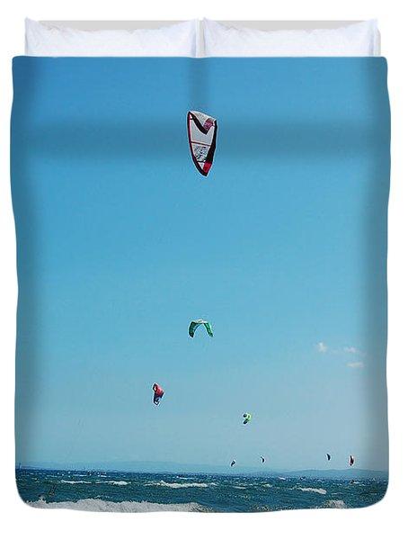 Kitesurf Lovers Duvet Cover