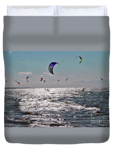 Kitesurfing Duvet Cover by Maja Sokolowska