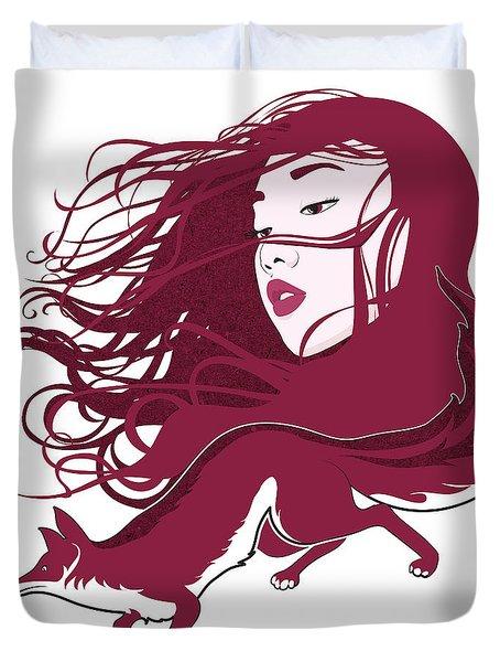 Kitsune Duvet Cover