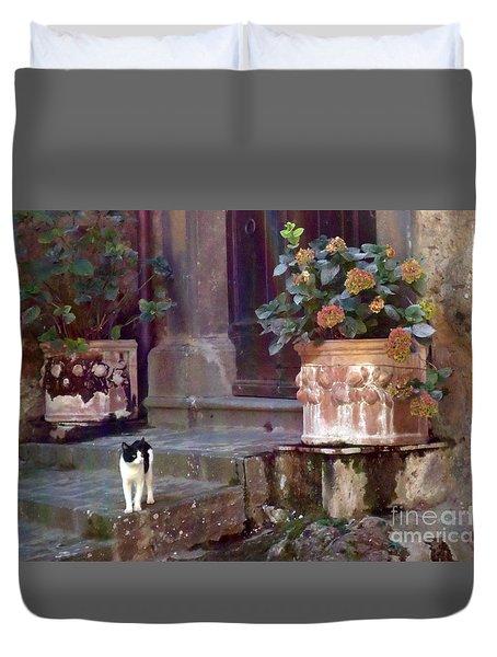 Kitten Italiano Duvet Cover