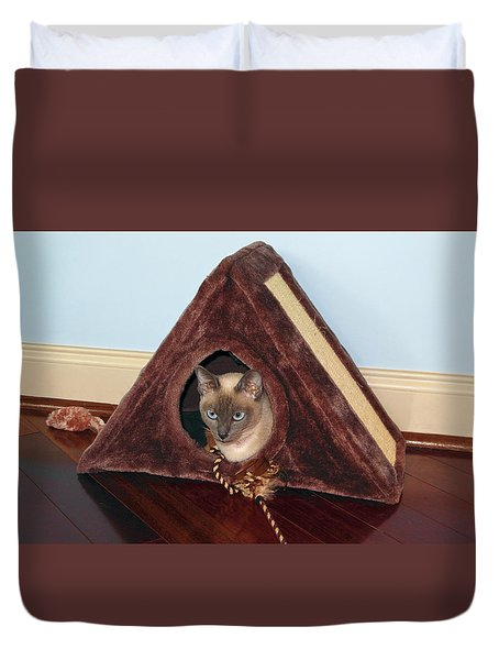 Kitty A-frame Duvet Cover by Sally Weigand