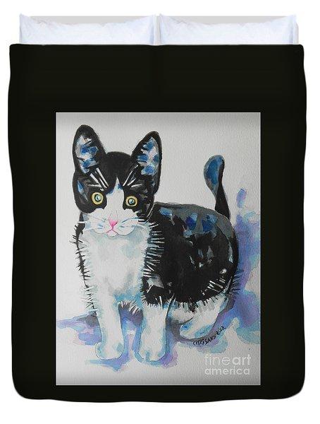 Kitty Duvet Cover by Chrisann Ellis
