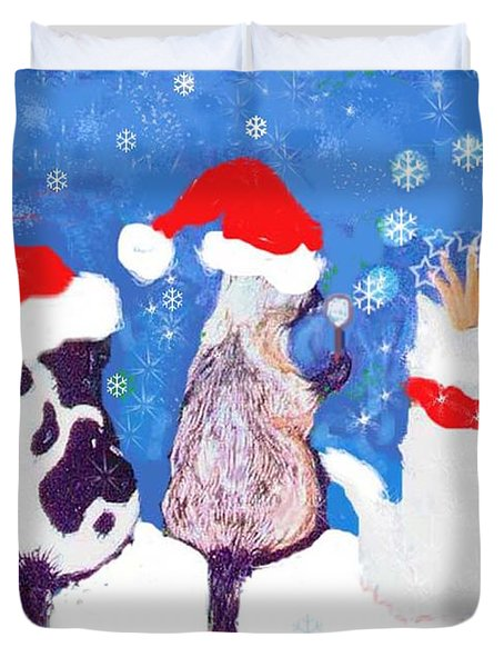 Kitty Christmas Duvet Cover