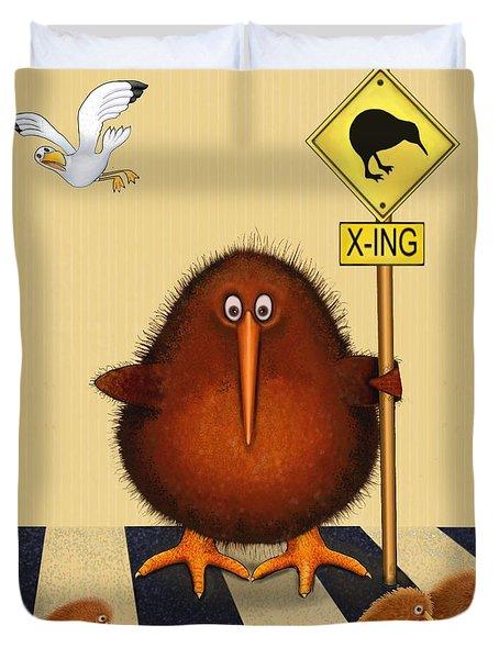 Kiwi Birds Crossing Duvet Cover