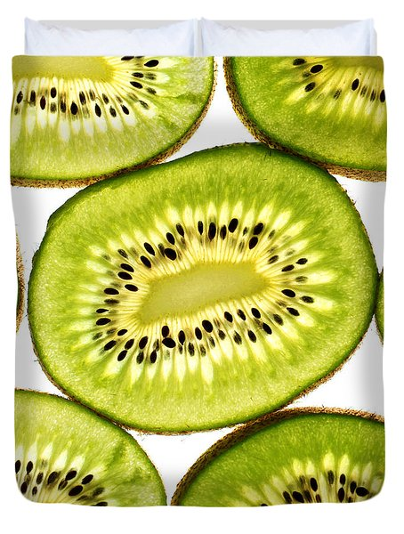 Kiwi Fruit IIi Duvet Cover by Paul Ge