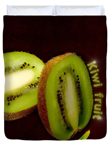 Kiwi Fruit Duvet Cover by Tommytechno Sweden