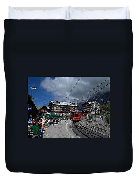 Kleine Schedegg Switzerland Duvet Cover