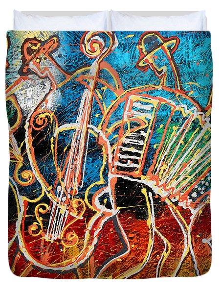 Klezmer Music Band Duvet Cover