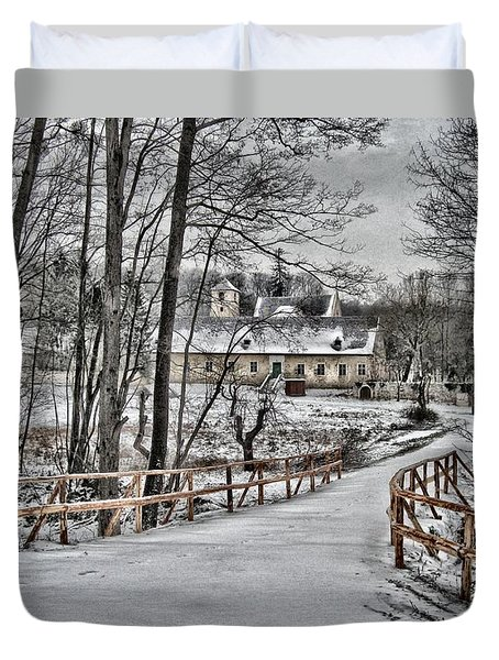 Duvet Cover featuring the photograph Kloster St. Anna  by Gabriella Weninger - David