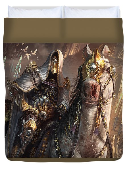 Knight Of Obligation Duvet Cover by Ryan Barger
