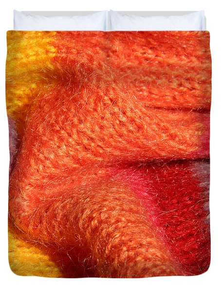 Knitted Textile Duvet Cover by Kerstin Ivarsson