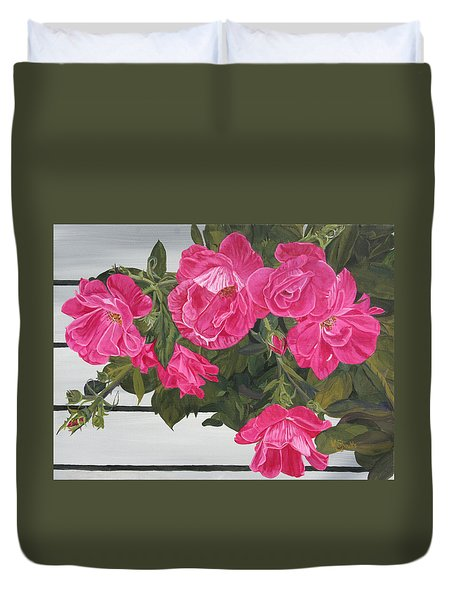 Knock Out Roses Duvet Cover