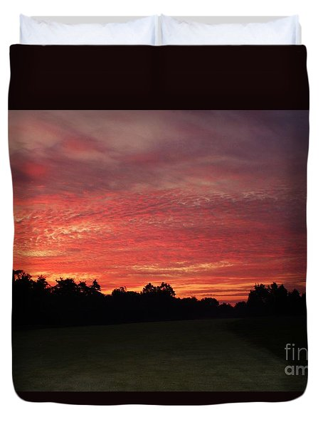 Duvet Cover featuring the photograph Knock Knocking On Heavens Door by Polly Peacock
