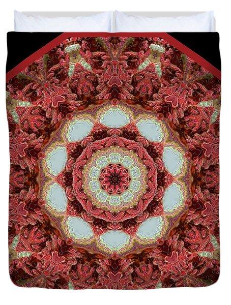 Duvet Cover featuring the digital art Knotty Twists Kaleidoscope by Aliceann Carlton