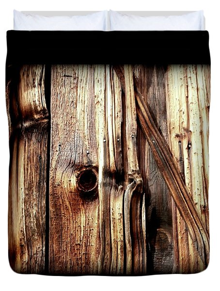 Knotty Wood Grain Duvet Cover
