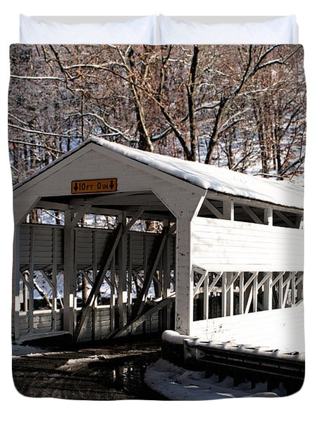 Knox Bridge In The Snow Duvet Cover