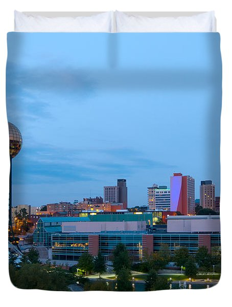 Knoxville At Dusk Duvet Cover