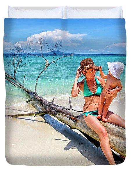 Ko Poda Island. Thailand. Krabi. Asia Duvet Cover