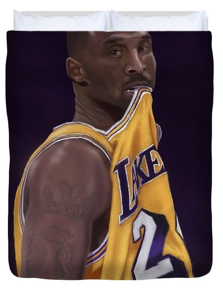 Kobe Bean Bryant Duvet Cover by Jeremy Nash