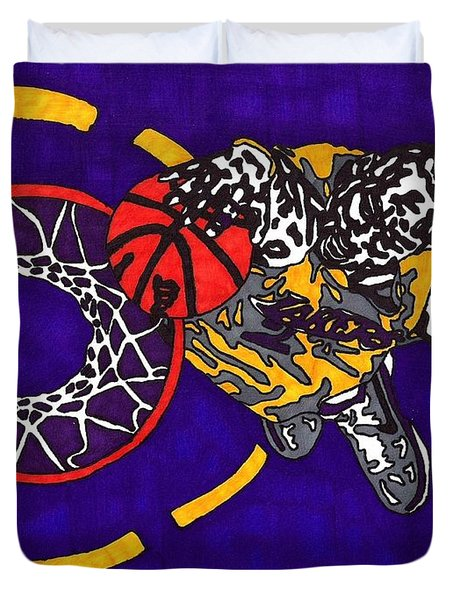 Kobe Bryant Duvet Cover by Jeremiah Colley