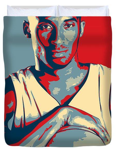 Kobe Bryant Duvet Cover by Taylan Apukovska