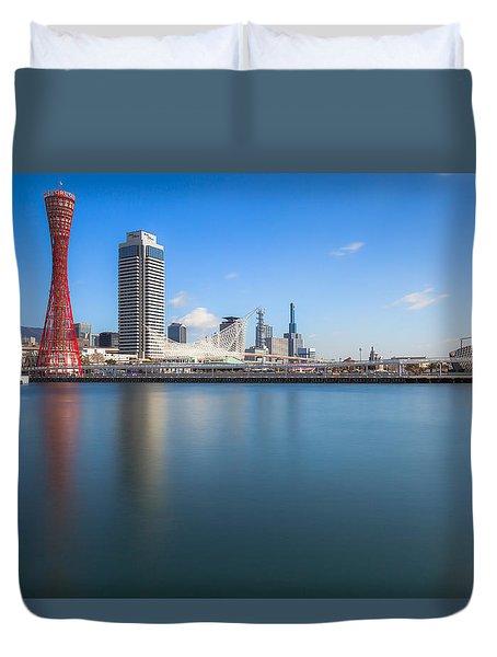 Kobe Port Island Tower Duvet Cover by Hayato Matsumoto