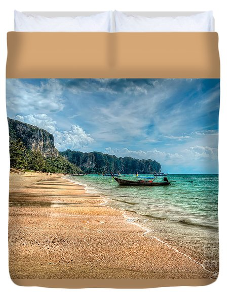 Koh Lanta Beach Duvet Cover by Adrian Evans