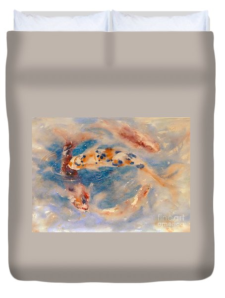 Koi Circle Duvet Cover