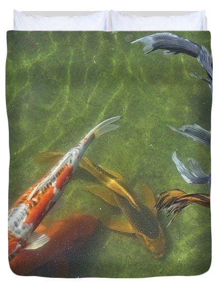 Koi Duvet Cover by Daniel Sheldon