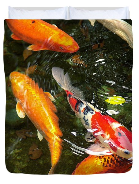 Koi Fish Japan Duvet Cover