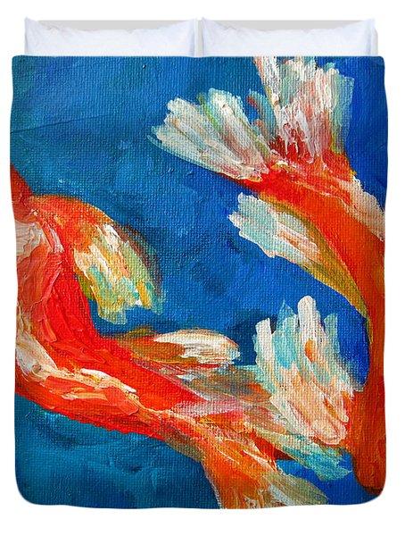 Koi Fish Duvet Cover by Patricia Awapara