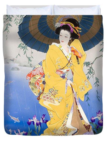 Koi Duvet Cover by Haruyo Morita
