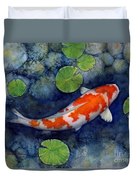 Koi pond painting by hailey e herrera for Koi pool cover