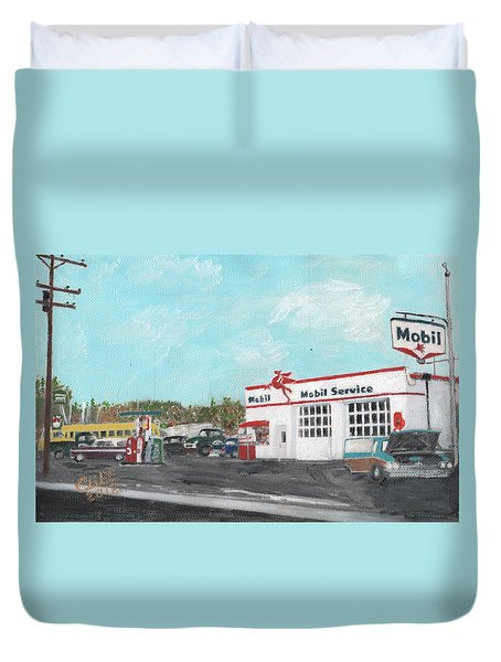 Koki's Garage Duvet Cover