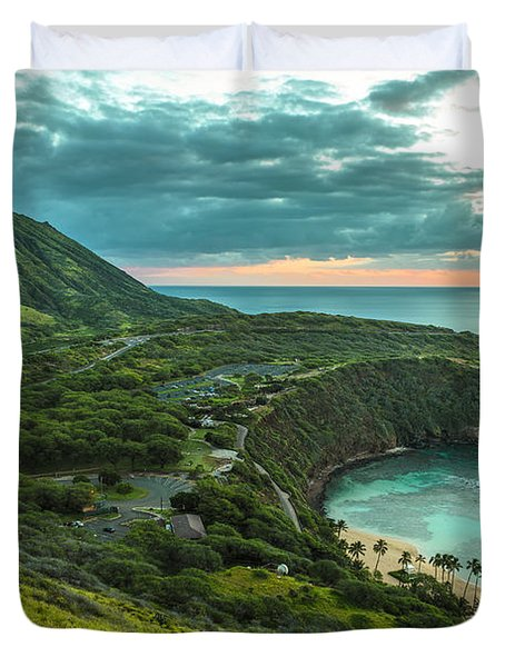 Koko Head Crater And Hanauma Bay 1 Duvet Cover