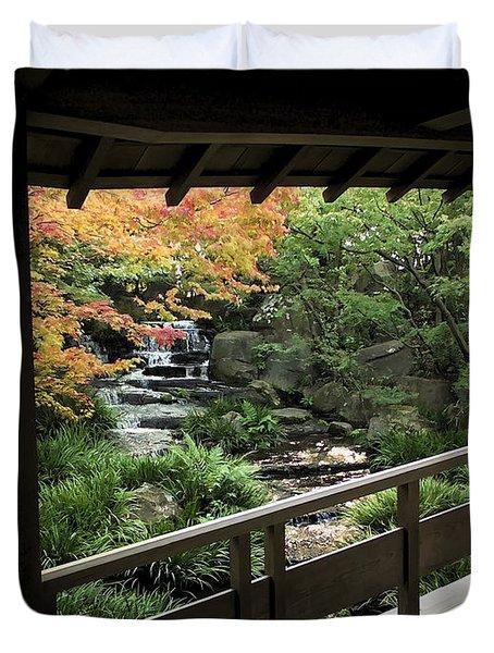 Kokoen Garden - Himeji City Japan Duvet Cover by Daniel Hagerman