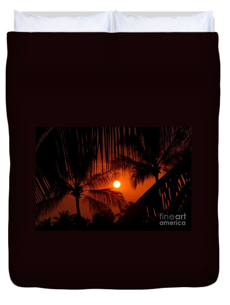 Kona Sunset Duvet Cover by Bob Hislop