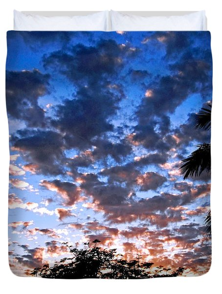 Duvet Cover featuring the photograph Kona Sunset by David Lawson
