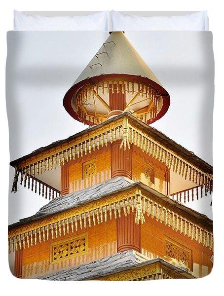 Kondar Devata Temple Duvet Cover by Kim Bemis
