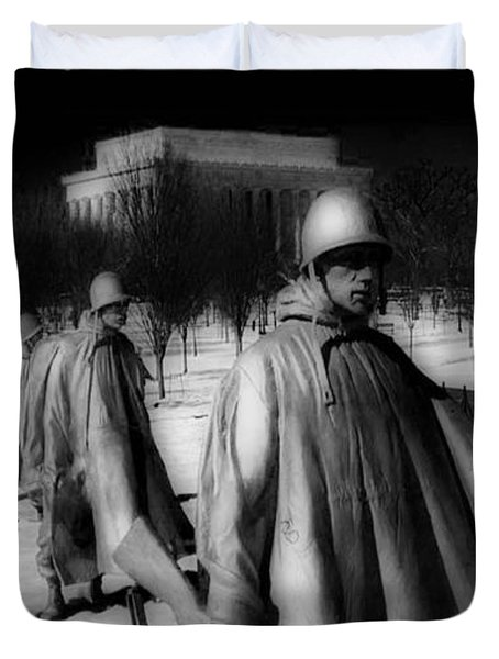 Korean Memorial Duvet Cover by Skip Willits