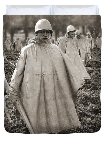 Korean War Memorial - Washington D.c. Duvet Cover by Mike McGlothlen