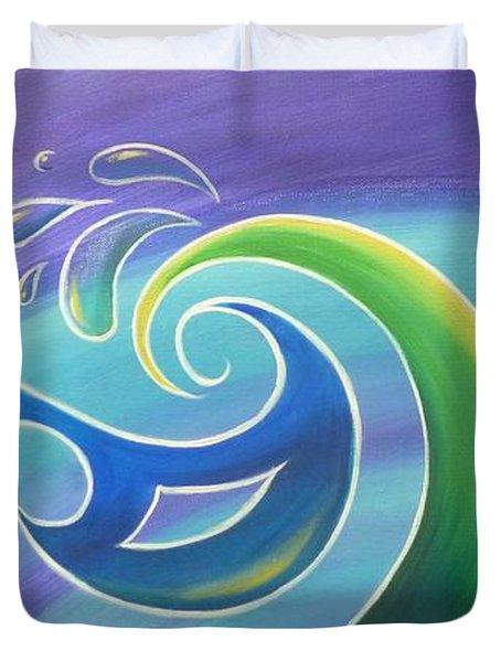 Koru Surf Duvet Cover by Reina Cottier