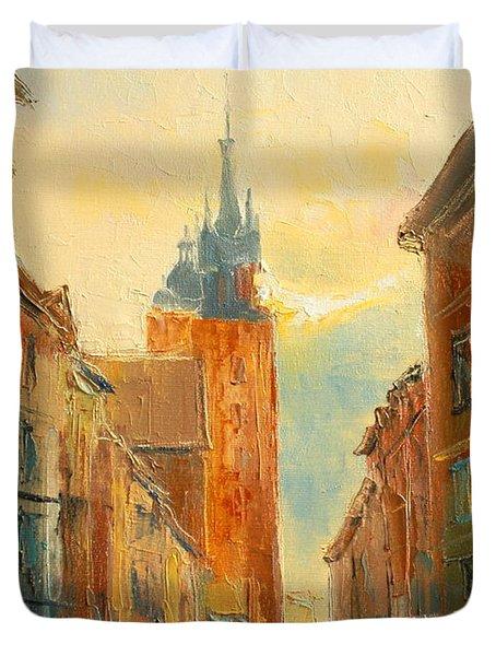 Krakow Florianska Street Duvet Cover