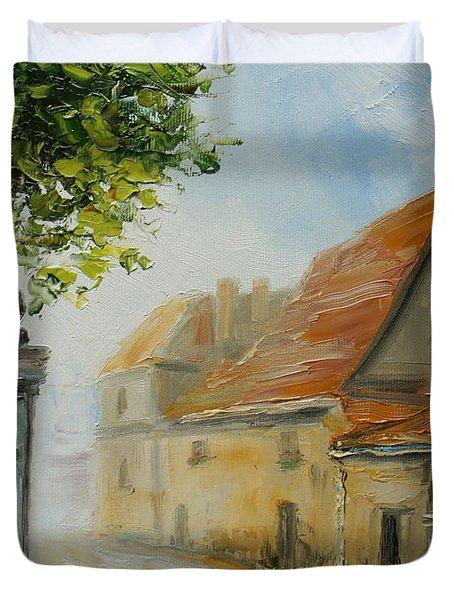 Krakow- Reformacka Street Duvet Cover